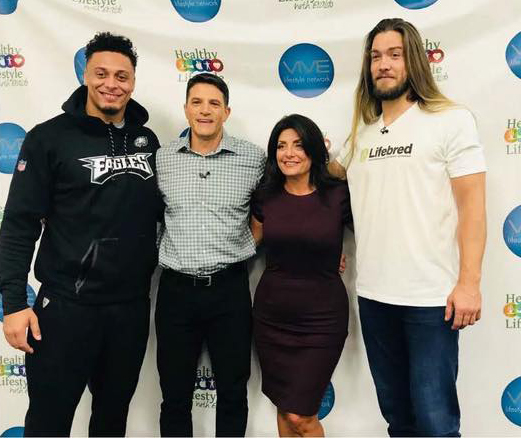 Philadelphia Eagles Billy Brown, Eraldo Maglara, Real Housewives of New Jersey reality star Kathy Wakile, and Bryan Braman