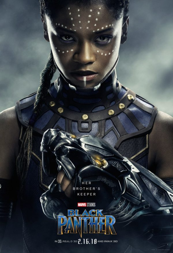 T'Challa's sister and the princess of Wakanda, Shuri is played by Letitia Wright.