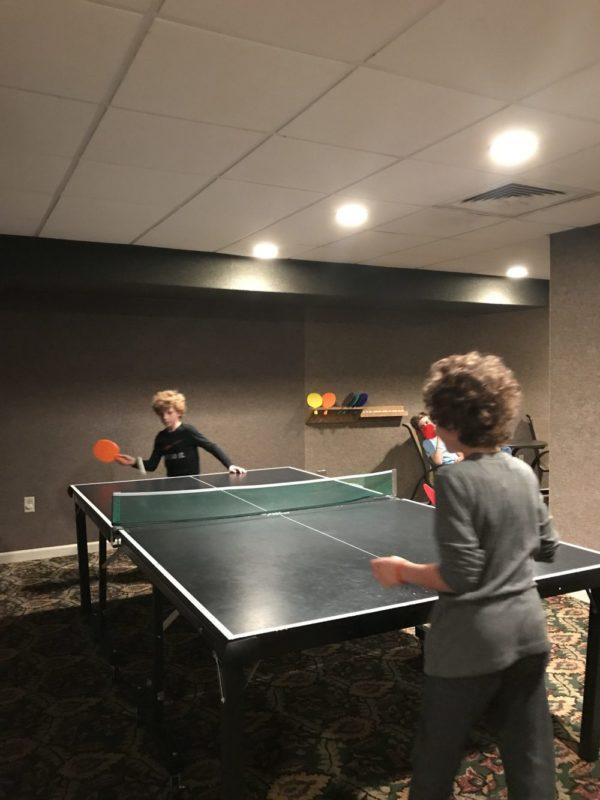 Ping pong at Woodloch Pines at Woodloch Resort