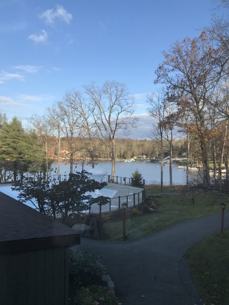 The view from the balcony of the Springbrook suites at Woodloch Pines is breathtaking.