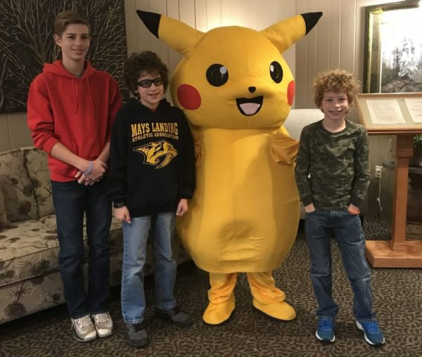 Pokemon Pikachu is one of the characters that make appearances at Woodloch Resort meals