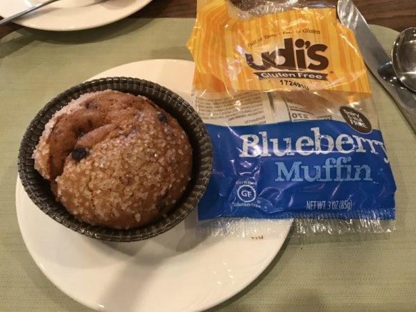 Udis' gluten free blueberry muffin