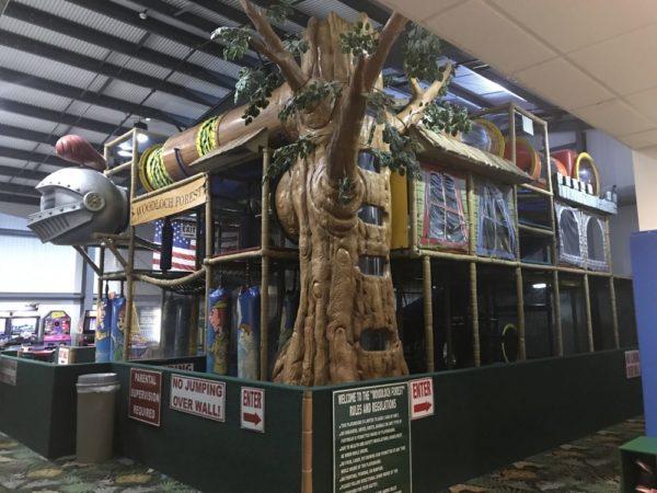 The Woodloch Forest has a soft indoor playground for indoor woodloch resort activities.