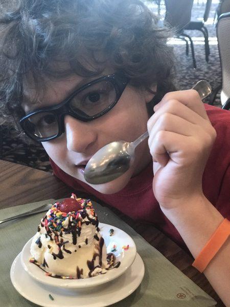 Ice cream sundaes can be ordered up for dessert at Woodloch Resort.
