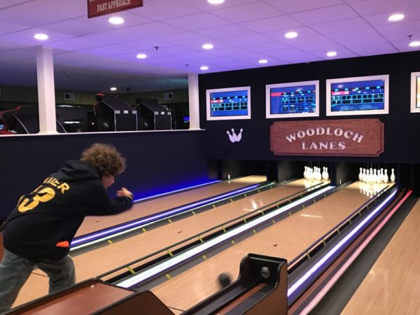Play mini bowling in the bunker at Woodloch Pines, another one of the great Woodloch Resort indoor activities