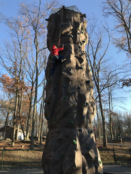 Rock climbing is one of the free Things to do at Woodloch Resort