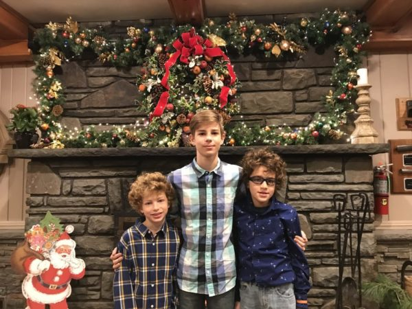 Christmas family picture at Woodloch Resort Dining Hall