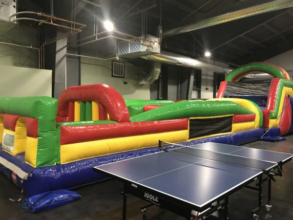 Smugglers Notch Kid Zone 2.0 inflatables obstacle course - Photo credit Jersey Family Fun