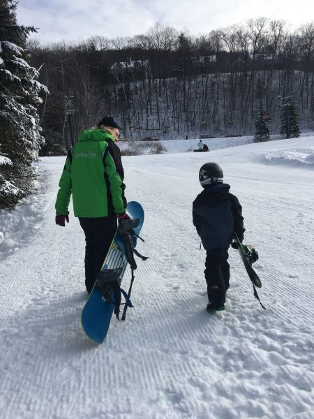 Jiminy Peak Mountain Resort offers snowboarding lessons for kids in Massachusetts.