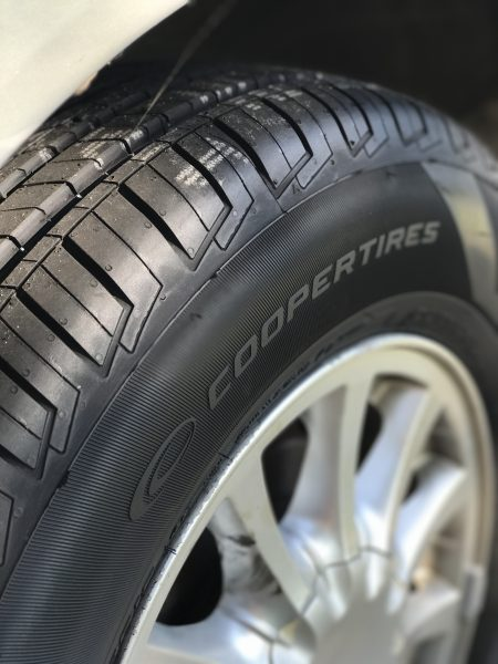 Look at this tread! This is what your tires should look like before traveling on a road trip.