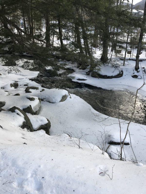 Snowshoeing through Smuggler's Notch Resort