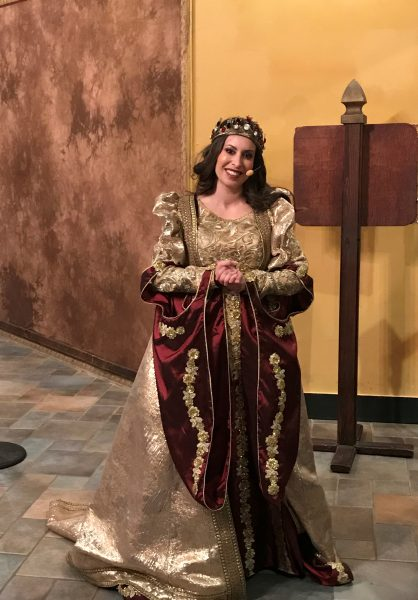 Queen Dona Maria Isabella at Medieval Times Dinner and Tournament in New Jersey Photo Credit Jersey Family Fun