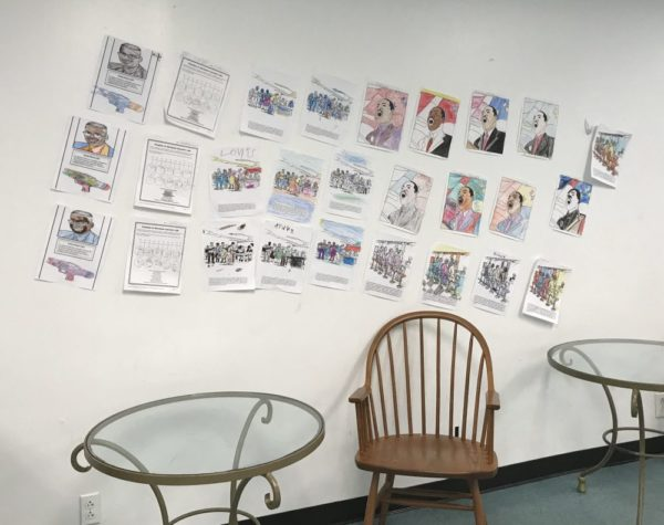 childrens artwork on display at African American Heritage Museum of Southern New Jersey