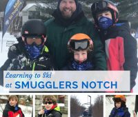 learning to ski at Smugglers Notch Resort