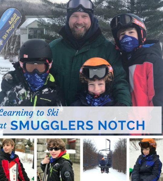learning to ski at Smugglers Notch Resort