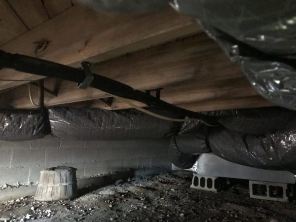 Crawl space before Atticare Crawl Space Insulation NJ