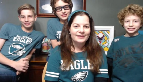 philadelphia eagles family pic