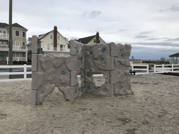 Rock climbing wall at Sand Castle Park in Ventnor NJ