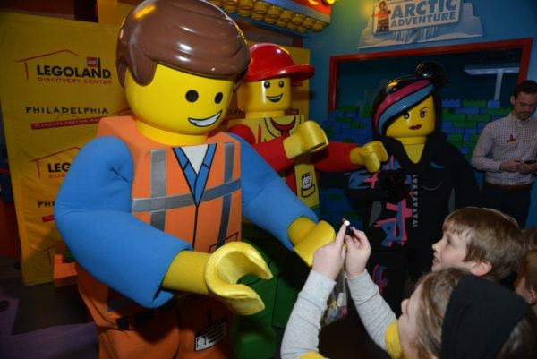 Characters come out for a special celebration at LEGOLAND Discovery Center Philadelphia