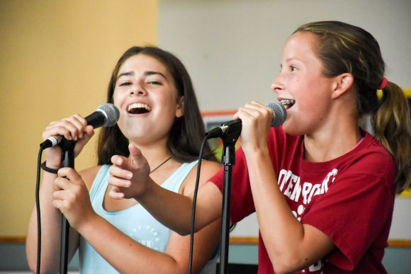 Girls show off their singing talents at Esf camps in New Jersey
