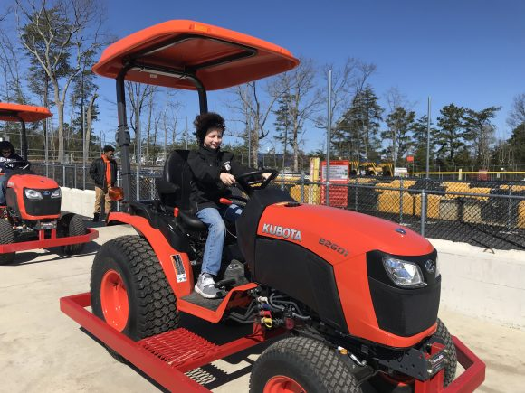 Getting ready to drive off in one of tha Rugged Riders at Diggerland in West Berlin, New Jersey.
