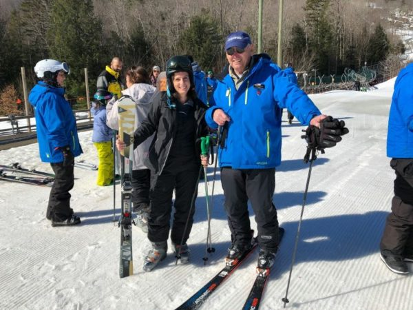 Mom learns to ski at Okemo Mountain Resort