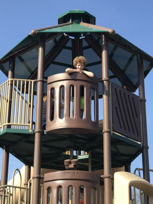 Get a great picture at the top of the playground at Bass River Township park