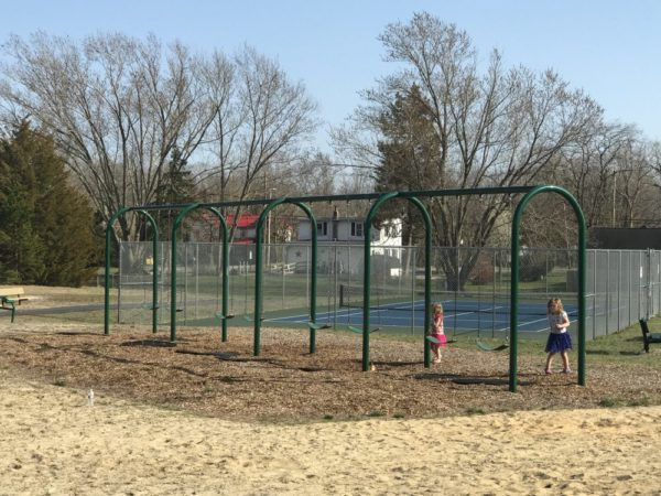 swings at Bass River Township park
