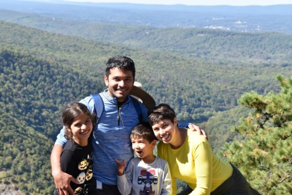 Take a family hike at Mount Tammany in NJ part of the Kittatinny Mountains