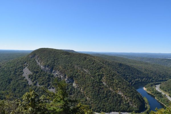 The view of Mount Tammany while hiking the Kittatinny Mountains