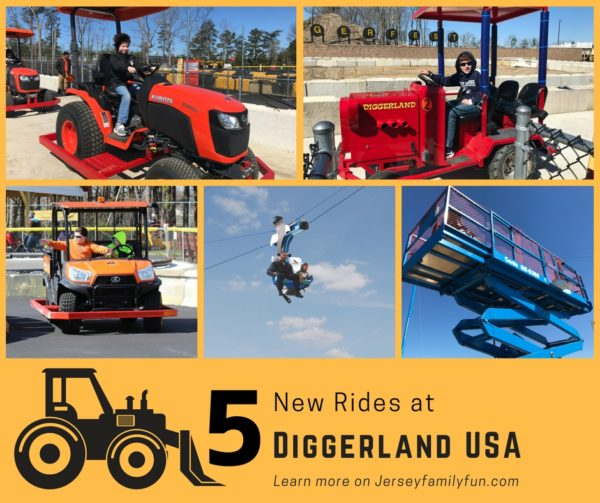 5 New Rides at Diggerland USA