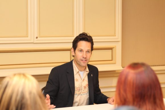 Ant man Paul Rudd group interview explaining