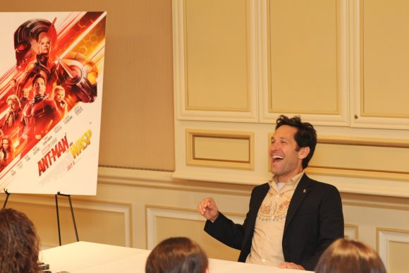 Ant man Paul Rudd group interview laughing