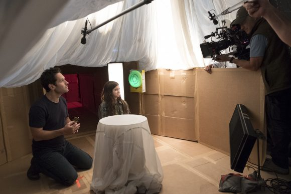 Ant-man Scott Lang builds an ant tunnel for his daughter Cassie