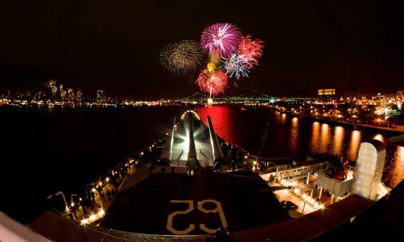 Battleship New Jersey Fireworks 2013