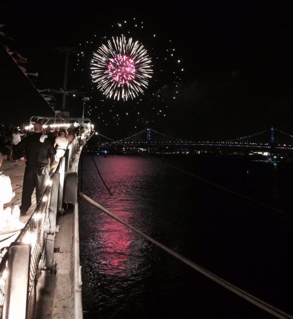 Battleship New Jersey Fireworks 2016
