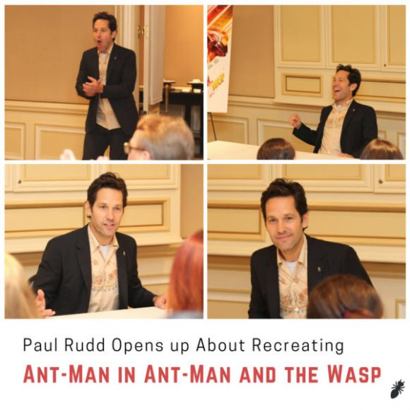 Paul Rudd Opens up About Recreating Ant-Man in Ant-Man and the Wasp