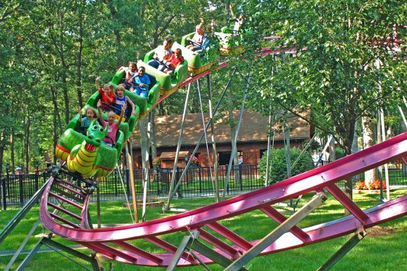 Enjoy a Storybook Land roller coaster in Egg Harbor Township New Jersey