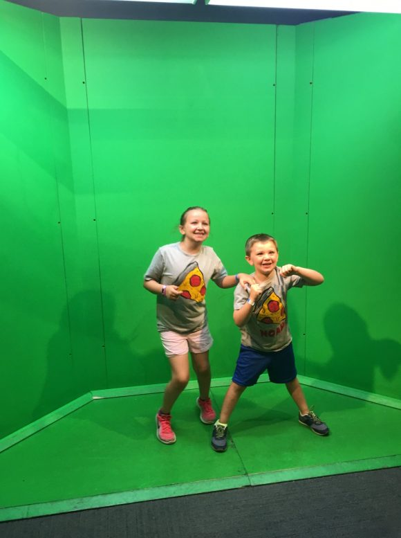 Green screen at Things to do in the Liberty Science Center's Arthur's World Exhibit
