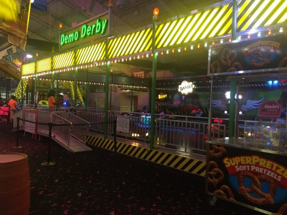 Funplex East Hanover offers amusement park rides like bumper cars.
