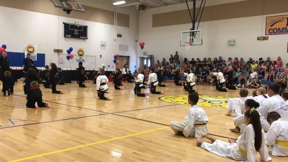 Mackenzie & Yates Martial Arts School belt test.