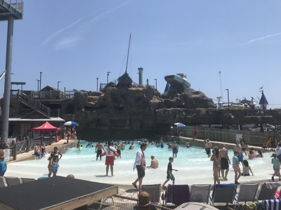 wave pool at Breakwater Beach waterpark in Seaside Heights NJ