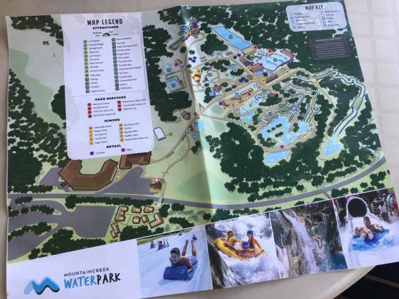 Mountain Creek Waterpark map