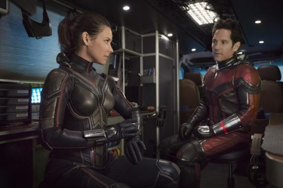 evangeline lilly and paul rudd in Ant-Man and the Wasp movie