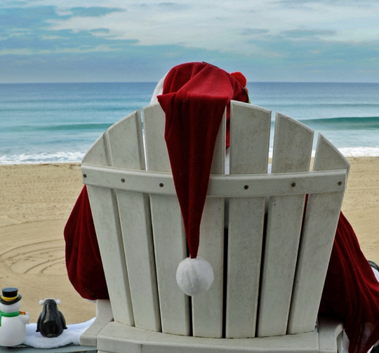 Christmas in July with Santa at the Beach
