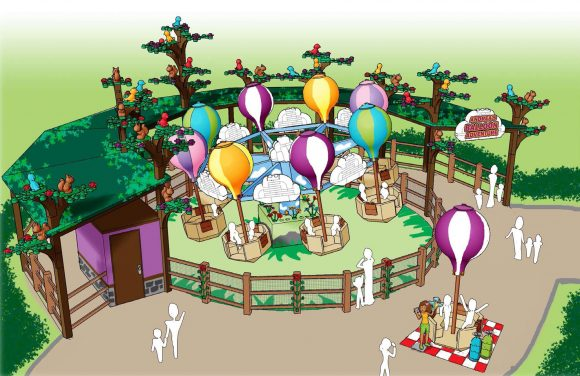 An early look at the Heartlake City Balloon Adventure ride coming to Legoland New York.