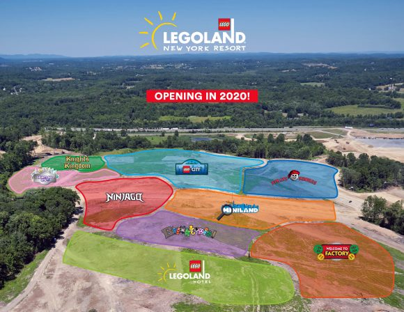 LEGOLAND New York Site with Map Overlays