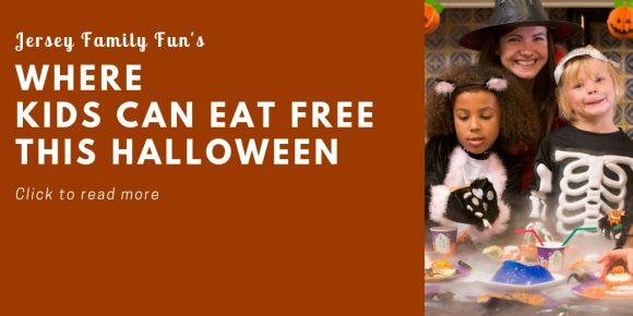 Halloween landing page button Kids eat free Halloween