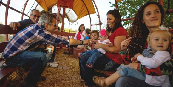 hayrides at Johnson's Locust Farm