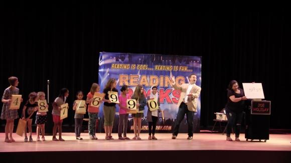 Magician Joe HolidaySchool Assembly Reading Rocks Magic Show 2